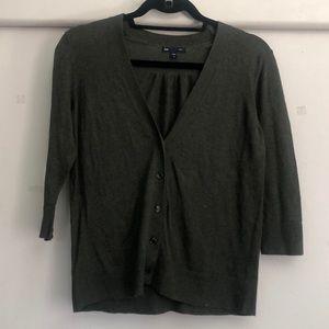 Gap Dark Green/Gray Cardigan